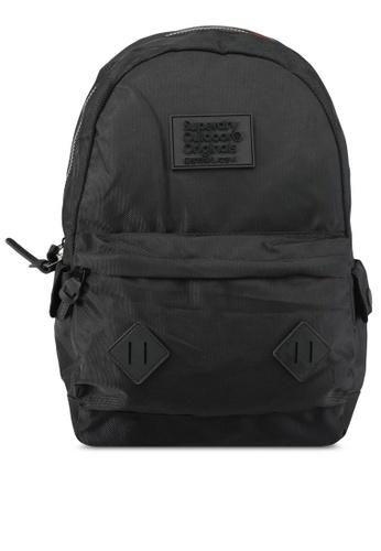 Superdry black Noir Montana Backpack SU137AC0SLMEMY_1