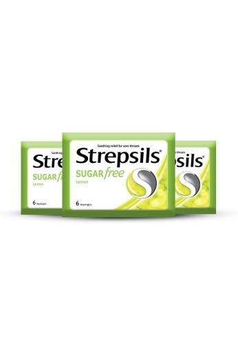 STREPSILS Strepsils Lozenges For Sore Throats Sugar Free Lemon Pouch Pack - Bundle of 3 BC796ES6C4C951GS_1
