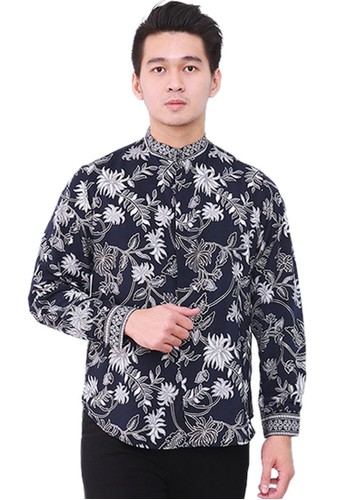 Flike Batik multi Long Sleeve Shanghai Navy Bloom 72947AA3F53B2AGS_1