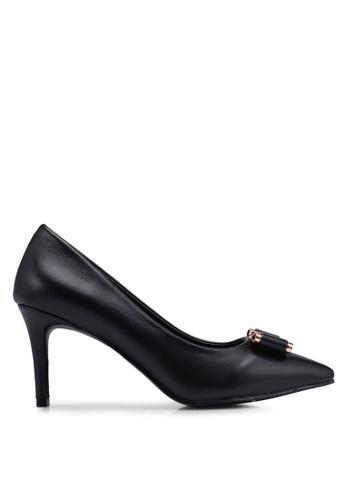 Bata black Pointed Toe Heels CC682SH3508DB9GS_1