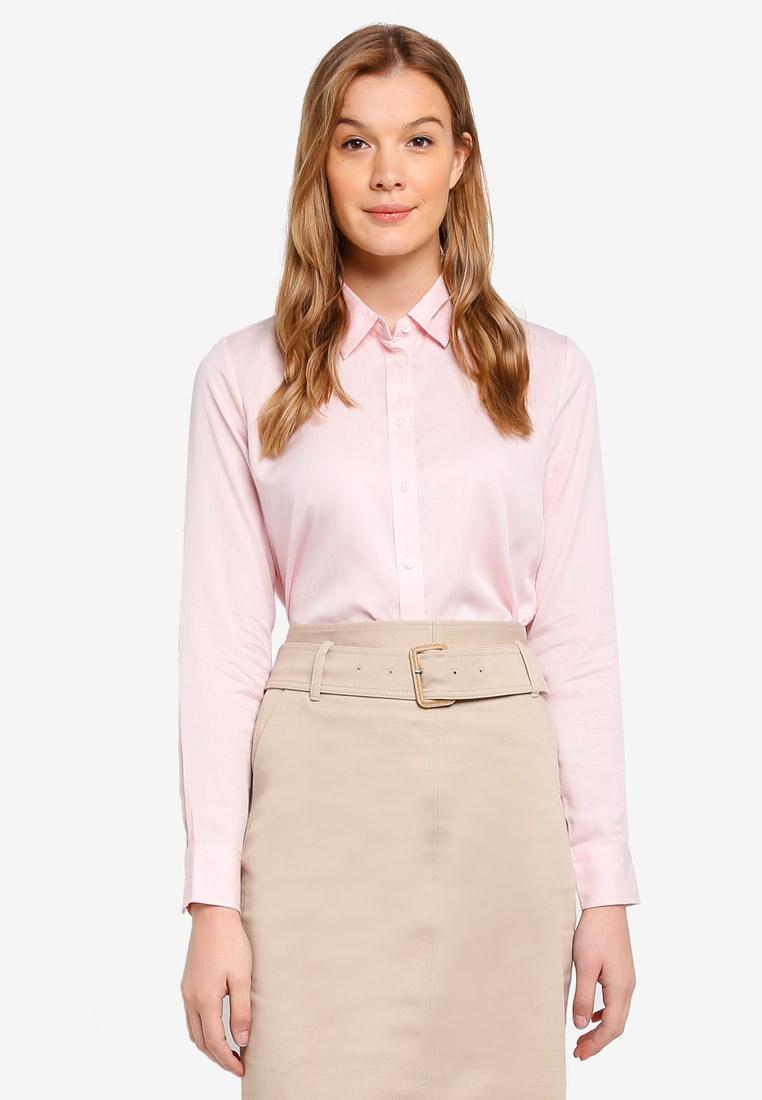 Pink Banana Dillon Republic Shirt Blush Solid 778PSfxnq