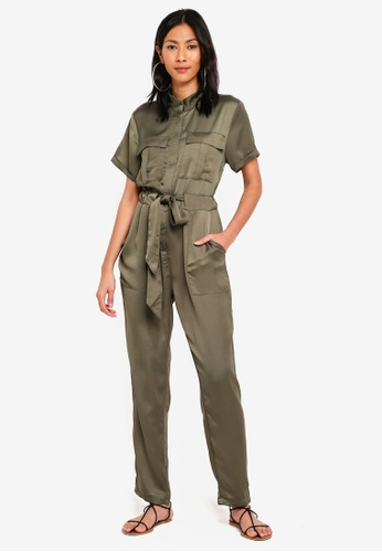 Glamorous green Belted Jumpsuit BDC1BAAA137183GS_1