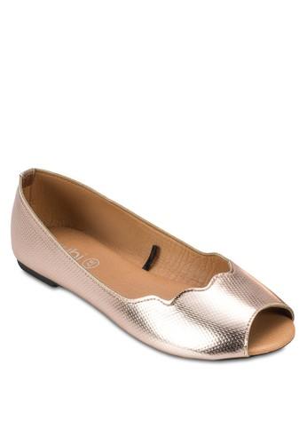Pammy 露趾平底鞋, 女鞋,esprit tsim sha tsui 印花時代