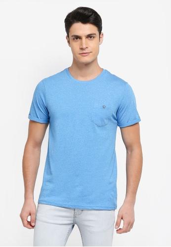 Burton Menswear London blue Cornflower Grindle T-Shirt B5CAEAA57166E3GS_1