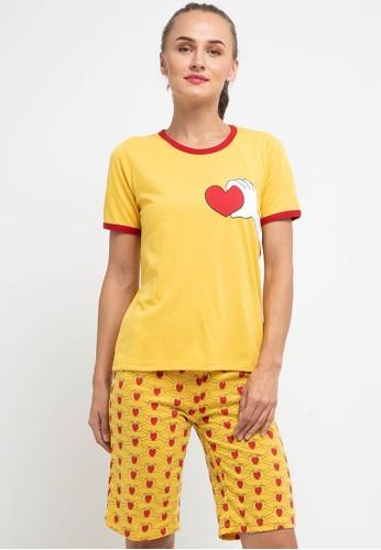 Puppy gold Pyjama Pijama Short Sleeve Short Pants Sleepwear 25EB8AAFD41974GS_1