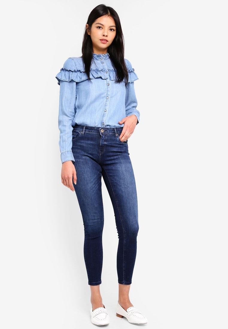 Pushup Allan Denim Dark Blue ONLY Reg Jeans fw0Exqf6Z