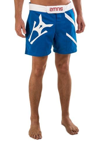 """AMNIG blue Amnig Men Performance Fighter Shorts-15"""" Royal Blue 0396BAAF723843GS_1"""