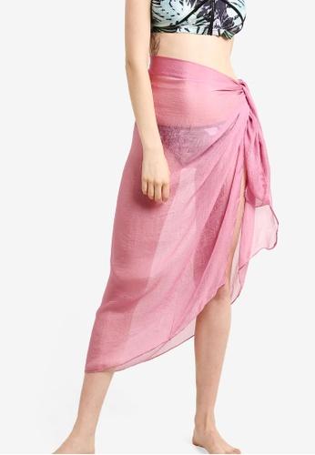 PINK N' PROPER pink Soleil Chiffon Beach Wrap PI108US87ZWUMY_1