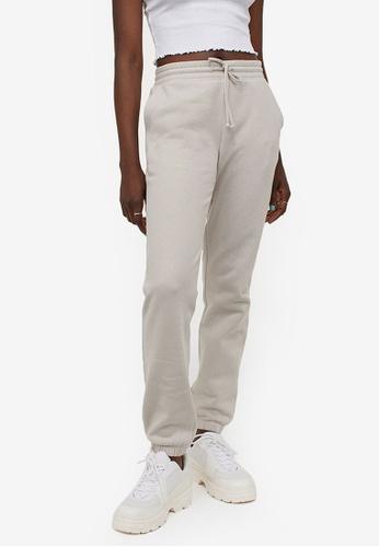 H&M beige Sweatpants 794B5AABC5E0FEGS_1