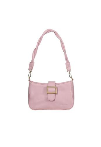 Verchini pink Verchini Twist Top Handle Bag 0A361AC63873E8GS_1