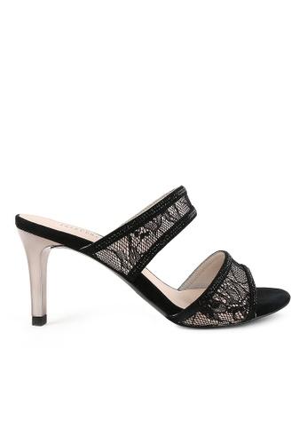 Joy & Peace black Lace Strap Heels JO458SH77YGWHK_1
