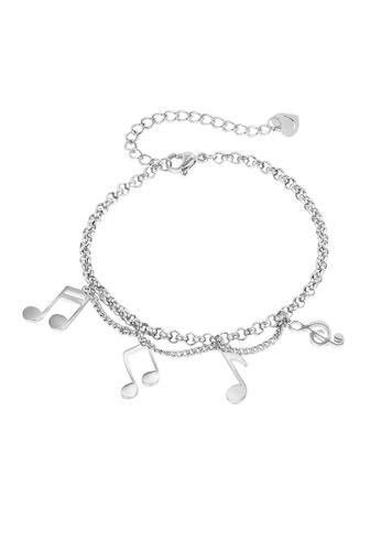 ADORA silver Stainless Steel Charm Bracelet 85013AC6AE9BDBGS_1