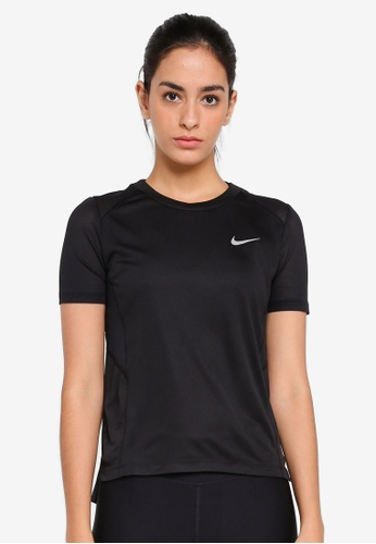 Nike black Women's Nike Miler Short-Sleeve Running Top NI126AA0STW4MY_1