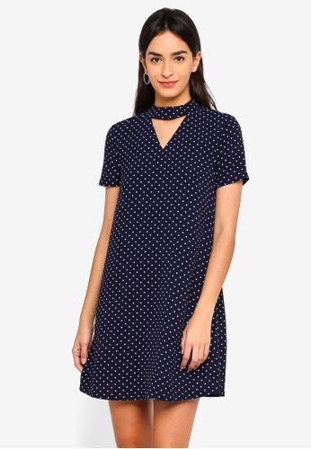 ZALORA navy Choker Dress 06121AA8A9BC79GS_1
