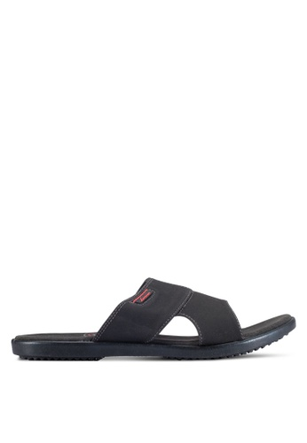 Louis Cuppers black Casual Sandals LO977SH0RF7YMY_1