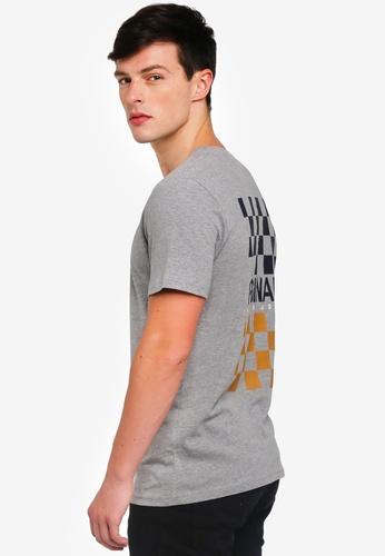 Jack & Jones 灰色 格紋短袖T恤 DD0D9AA45B7A23GS_1