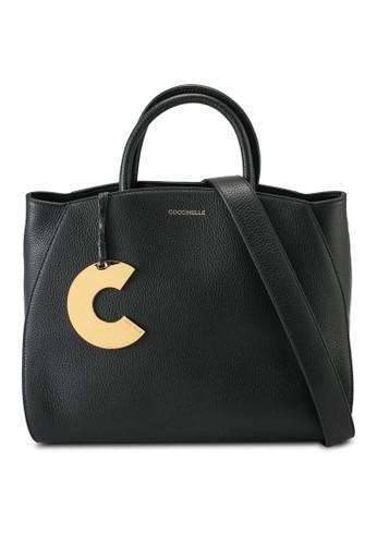 Coccinelle black Concrete Top-Handle Bag D941AAC897F126GS_1