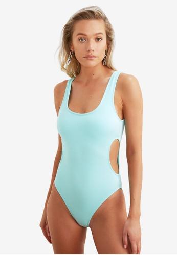 Trendyol blue Cut Out Swimsuit DF722USB6F507BGS_1