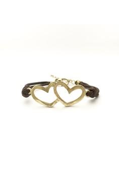 Double Heart Cord Bracelet