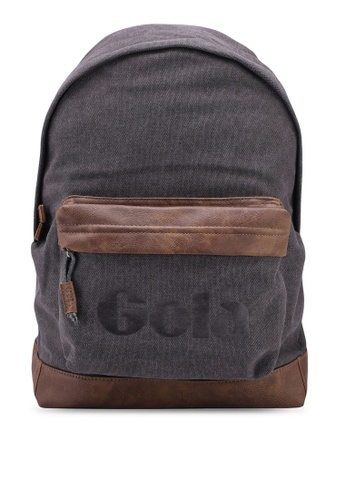 Gola black and grey Harlow Canvas Backpack 27191AC37759CBGS_1