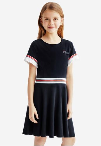 FILA navy FILA KIDS Rhinestone FILA Logo Color Blocks Dress 8-13yrs 2F714KA4147E51GS_1