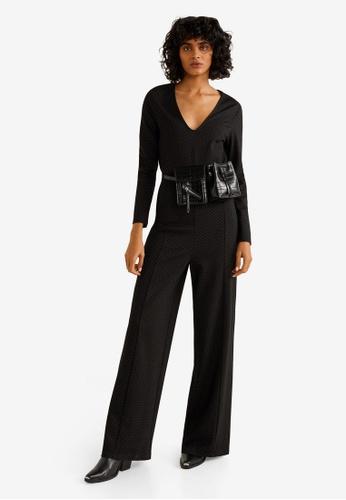 Mango black Polka Dot Print Jumpsuit F4CA9AA25C2B1AGS_1