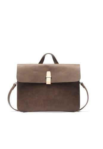 Lara brown Men's Flap Messenger Bag B576FAC0B82963GS_1