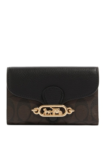 Coach black and brown Jade Medium Envelope Wallet (cv) 4FB03AC0A7B411GS_1