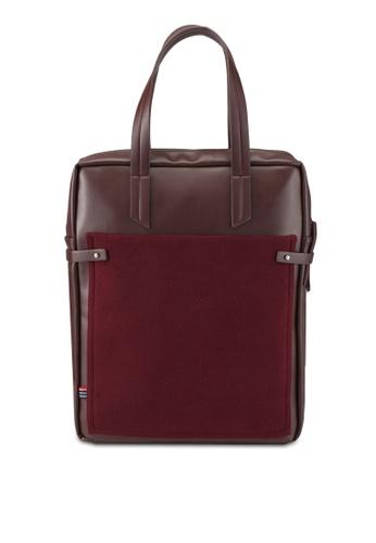 ZALORA red Mix Materials Tote Bag FB572AC15A4126GS_1