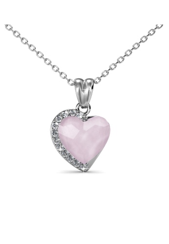 Her Jewellery silver Fond Love Pendant (Opal Pink) - Made with premium grade crystals from Austria HE210AC0GFHKSG_1