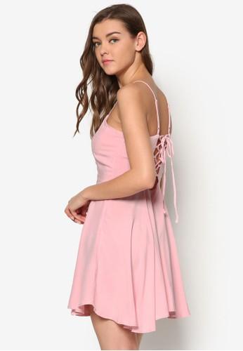 背部繫帶印花洋esprit tote bag裝, 服飾, 洋裝