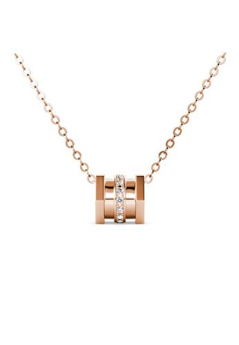 Buy Her Jewellery Bella Vie Isadora 18k Rose Gold Diamond Necklace By Her Jewellery Online Zalora Malaysia