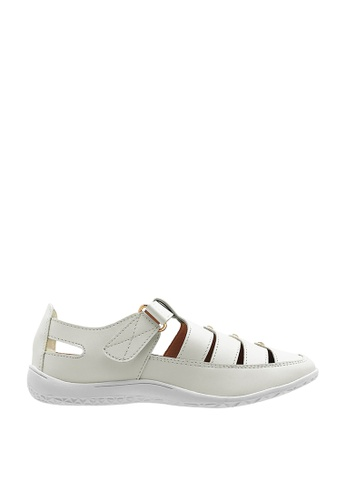 CO BLANC white CO BLANC Cut Out Loafers with Studs F949BSH68AEBA5GS_1