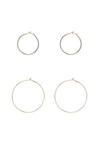 Red's Revenge gold 3-In-1 Back To Basics Gold Hoops Earrings Set BE1BFAC56CBDA1GS_1