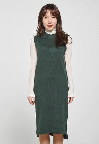 韓流時尚 側開長款針織服裝 F4049, esprit床組服飾, 上衣