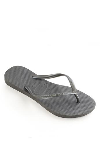 Havaianas grey Slim Flip Flops 600D5SHAFADB72GS_1