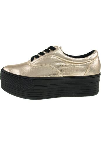 Maxstar 金色 新款韩国鞋C50-5H-TC時尚皮革布混合女金色 US Women Size MA345SH03GTCTW_1
