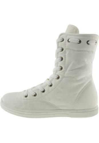 Maxstar 白色 新款韩国鞋8119-9H時尚帆布布混合女白色 US Women Size MA345SH61HCKTW_1
