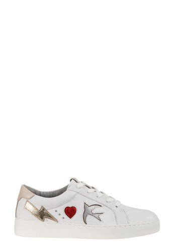 Nine West white NWPHOTOID Lace-Up Sneakers ABF5ASHB30F1D7GS_1