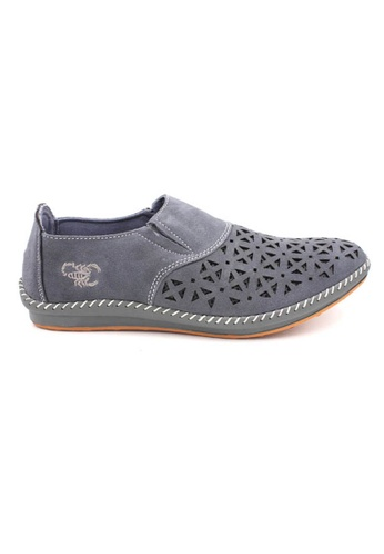 midzone grey SCORPION Men Suede Leather Loafer MI949SH47OAUMY_1