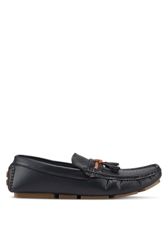 UniqTee 黑色 Woven Loafers With Braided Tassels 62124SH3C4BCFAGS_1