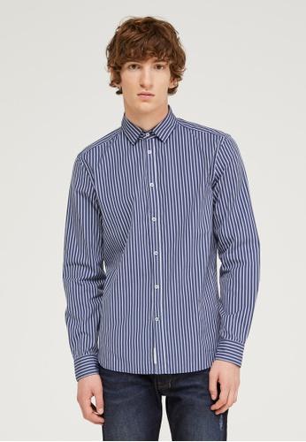 Sisley multi Slim Fit Printed Shirt 2ADCEAA9E0C16AGS_1