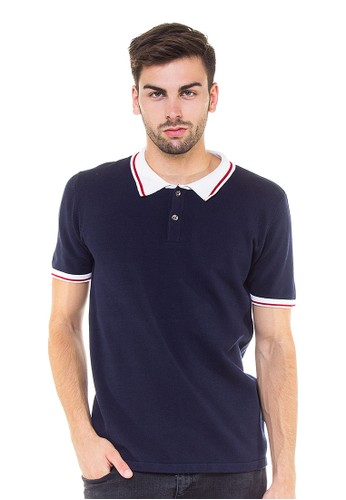 Knitwork Navy Basic Polo Shirt