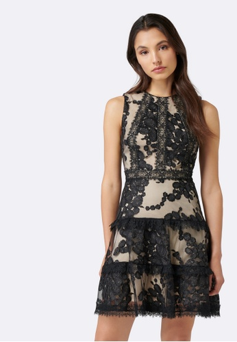 Forever New black Sienna Sequin Flip Dress 13C77AA50FD255GS_1