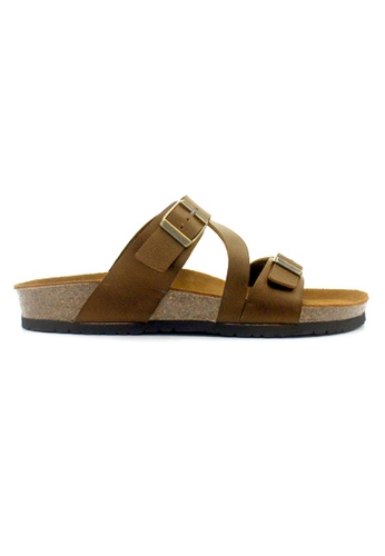 SoleSimple 褐色 Hamburg - 駱駝色 百搭/搭帶 全皮軟木涼鞋 BF143SHD9B5F69GS_1