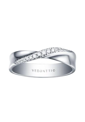 Vedantti white Vedantti 18K Mobius Slim Diamond Ring in White Gold BB181AC19AD328GS_1