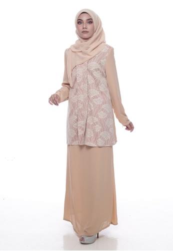 Baju Kurung Lawra from Denai Boutique in Brown