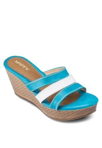 拼色帶楔形涼鞋, 女esprit 折扣鞋, 鞋