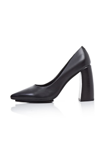 Sunnydaysweety black New Leather Pointed High-heeled Shoes UA030110BK SU443SH12LZRHK_1