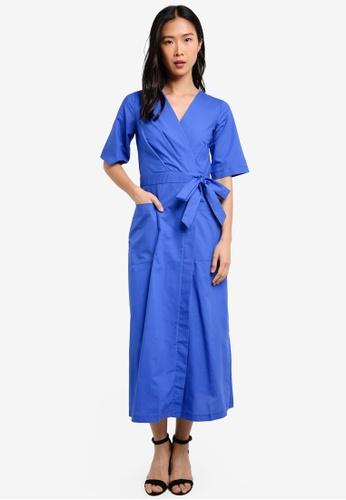 CLOSET blue Midi Kimono Dress CL919AA0S6G5MY_1